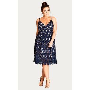 NWT City Chic So Fancy Crochet Fit & Flare Dress